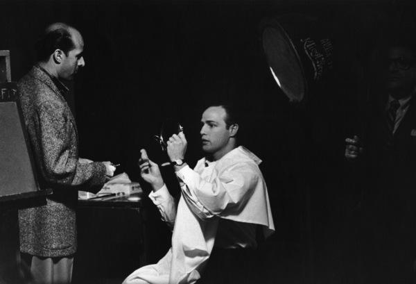Marlon Brando backstage with Sidney Skolsky before his show1955 © 1978 Sid Avery - Image 0007_0012