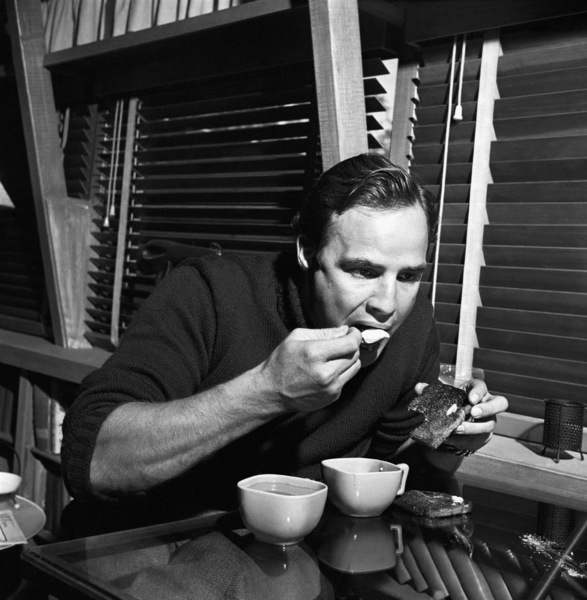 Marlon Brando at his Beverly Glen home in Los Angeles 1953 © 1978 Sid Avery - Image 0007_0018