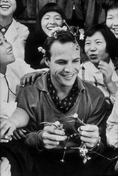 """Marlon Brando in Japan during filming of""""Teahouse of the August Moon, The""""1956 © 1978 Sanford RothMPTV - Image 0007_1003"""