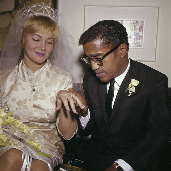 Sammy Davis Jr. and May Britt on their wedding day11-13-1960 © 1978 David Sutton - Image 0009_2173