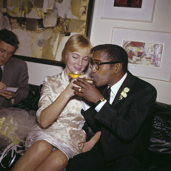 Sammy Davis Jr. and May Britt on their wedding day11-13-1960 © 1978 David Sutton - Image 0009_2326