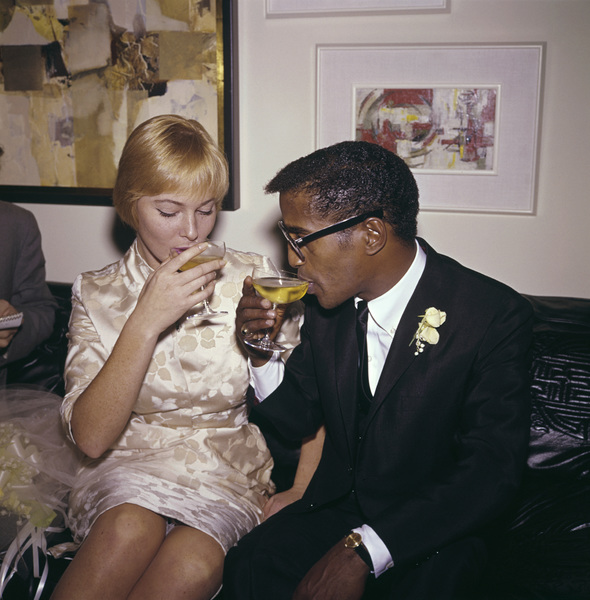 Sammy Davis Jr. and May Britt on their wedding day11-13-1960 © 1978 David Sutton - Image 0009_2327