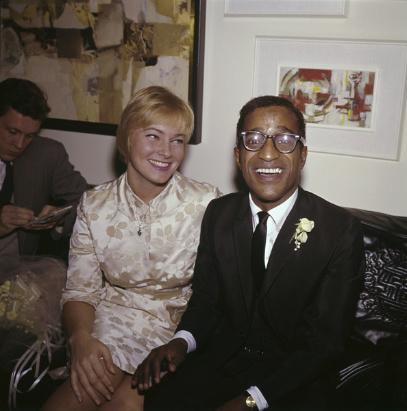 Sammy Davis Jr. and May Britt on their wedding day11-13-1960 © 1978 David Sutton - Image 0009_2328