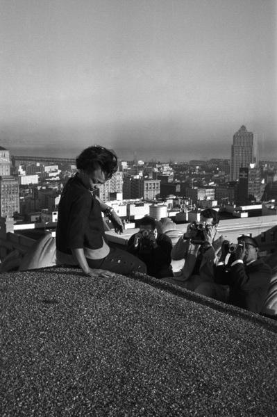 Eartha Kitt and Sammy Davis Jr.circa 1955 © 1978 Bernie Abramson - Image 0009_2367