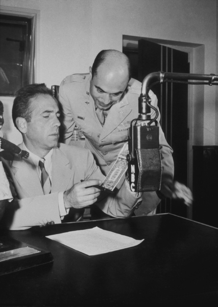 Humphrey Bogart at NBC Radio, circa 1940.MPTV - Image 0015_1158
