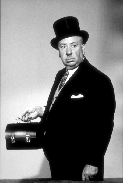 "Alfred Hitchcock on the set of""Alfred Hitchcock Presents.""1956/CBS. © 1978 Gene Trindl - Image 0017_0042"