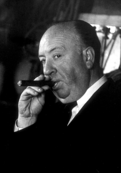 "Alfred Hitchcock on the set of""Alfred Hitchcock Presents.""January 12, 1956/CBS. © 1978 Gene Trindl - Image 0017_0504"