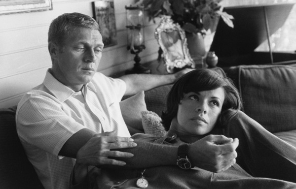 Steve McQueen and wife Neile Adams at home on Solar Drive in the Hollywood Hills circa 1963 © 1978 David Sutton - Image 0019_0871