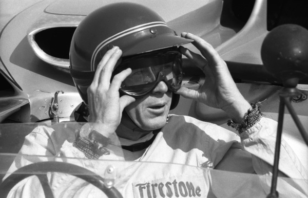 Steve McQueen in his Lola at the Riverside Raceway in Riverside, CA1966 © 1978 Chester Maydole - Image 0019_0881