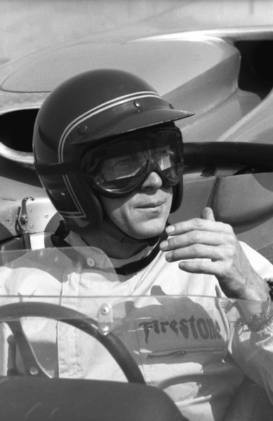 Steve McQueen in his Lola at the Riverside Raceway in Riverside, CA1966 © 1978 Chester Maydole - Image 0019_0882