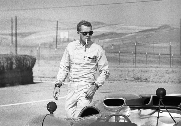 Steve McQueen and his Lola at Riverside Raceway in Riverside, California 1966 © 1978 Chester Maydole - Image 0019_0884