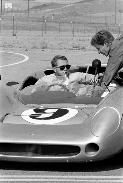 Steve McQueen in his Lola at the Riverside Raceway in Riverside, CA1966 © 1978 Chester Maydole - Image 0019_0916