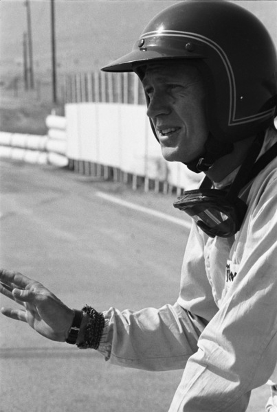 Steve McQueen and his Lola at Riverside Raceway in Riverside, California 1966 © 1978 Chester Maydole - Image 0019_1057
