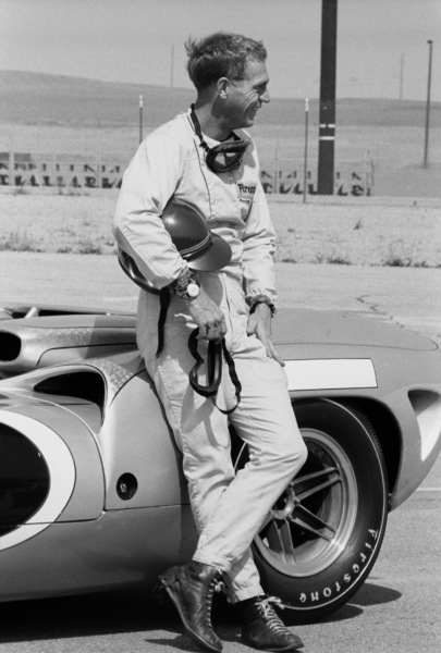 Steve McQueen and his Lola at Riverside Raceway in Riverside, California 1966 © 1978 Chester Maydole - Image 0019_1058