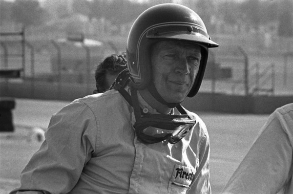 Steve McQueen and his Lola at Riverside Raceway in Riverside, California 1966 © 1978 Chester Maydole - Image 0019_1077