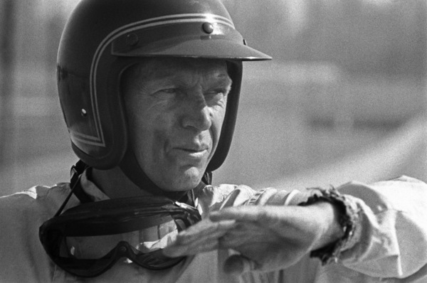 Steve McQueen and his Lola at Riverside Raceway in Riverside, California 1966 © 1978 Chester Maydole - Image 0019_1079