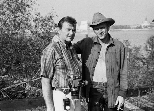 """Steve McQueen with photographer Chester Maydole during the making of """"Nevada Smith""""1966 © 1978 Chester Maydole - Image 0019_1082"""