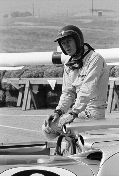 Steve McQueen and his Lola at Riverside Raceway in Riverside, California 1966 © 1978 Chester Maydole - Image 0019_1112