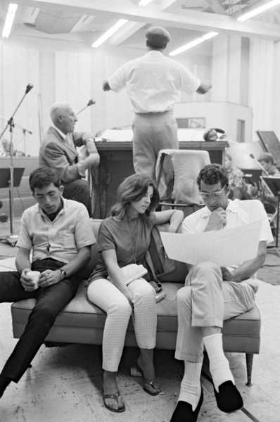 Dean Martin with daughter Deana at a recording sessionAugust 1966 © 1978 Ed Thrasher - Image 0022_1462