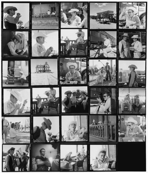 """James Dean on location for """"Giant"""" in Marfa, Texas1955© 1978 Sid Avery - Image 0024_0001"""