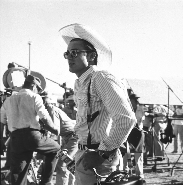 """James Dean on location for """"Giant"""" in Marfa, Texas, 1955. © 1978 Sid Avery - Image 0024_0144"""