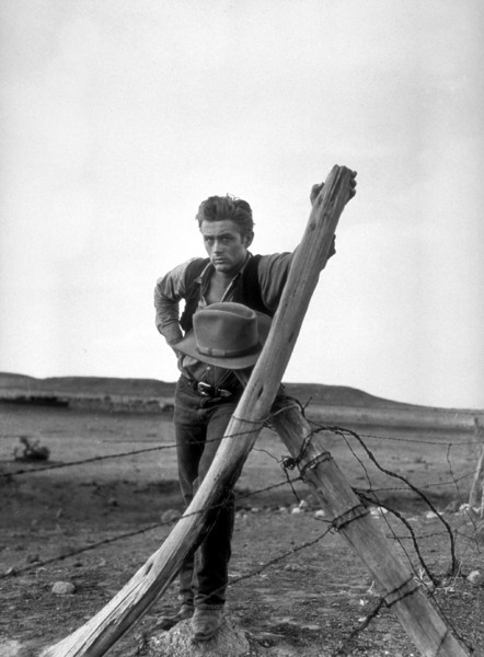 "James Dean on location for ""Giant""in Marfa, Texas, 1955.Photo by Floyd McCarty - Image 0024_0407"
