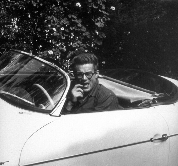 James Dean, in his porsche Speedstercir.1955**D.L. - Image 0024_2094