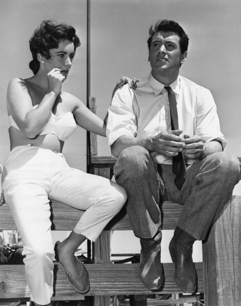 """Giant""Elizabeth Taylor and Rock Hudson in Marfa, Texas1955Photo by Floyd McCarty - Image 0024_2441"
