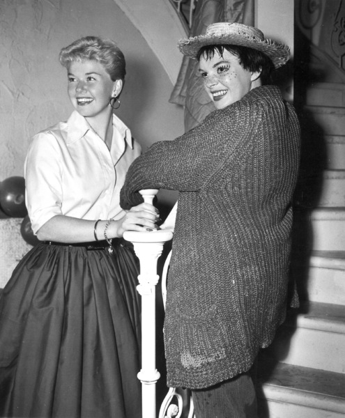 "Doris Day, Judy GarlandOn the set of ""A Star Is Born"" 1954Photo by Floyd McCarthy - Image 0025_1214"