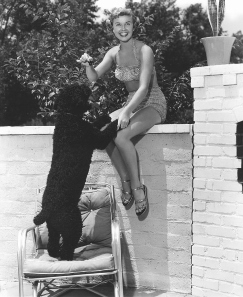 Doris Daywith her dog Mrs. MikePhoto By Eugene Robert Richee - Image 0025_2264