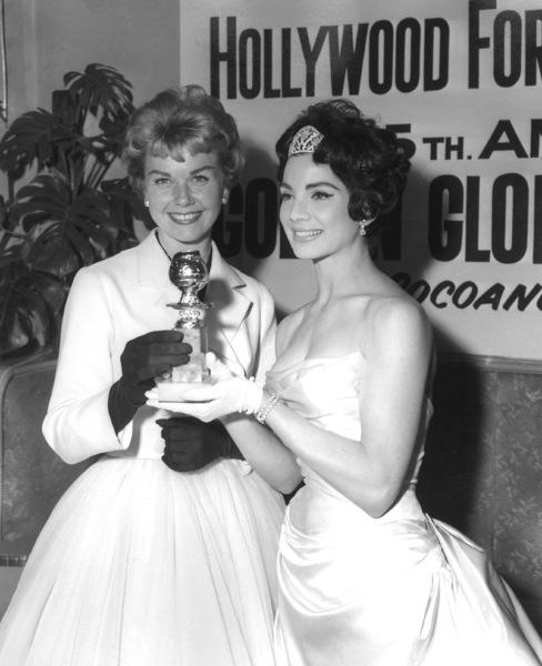 Doris Day and Ziva Rodann at the Golden Globe Awards 1958** I.V. - Image 0025_2343