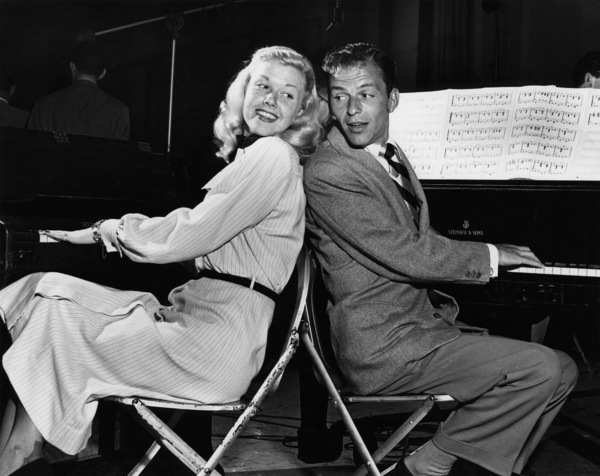 "Doris Day and Frank Sinatra on ""Your Hit Parade"" radio show 1947 ** B.D.M. - Image 0025_2590"