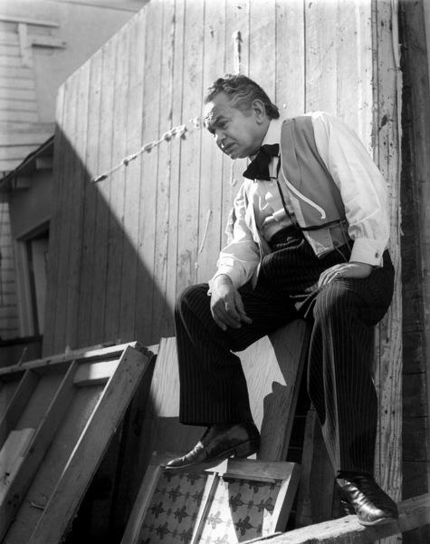 "Edward G. RobinsonFilm Set""Actors In Sin"" 1951Copyright John Swope Trust / MPTV - Image 0029_0838"