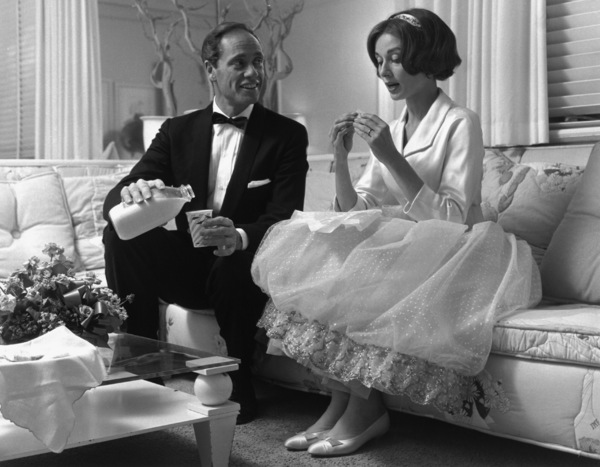 Audrey Hepburn and Mel Ferrer in Los Angeles, CA1957 © 1978 Sid Avery - Image 0033_0033