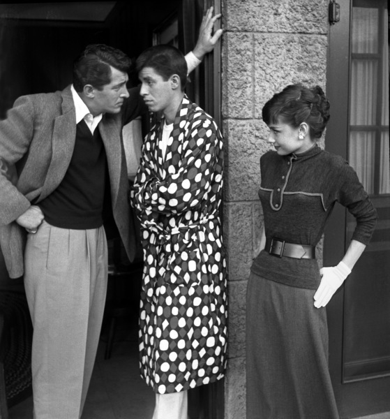 Audrey Hepburn with Dean Martin and Jerry Lewis 1953 © 1978 Bob Willoughby - Image 0033_2465