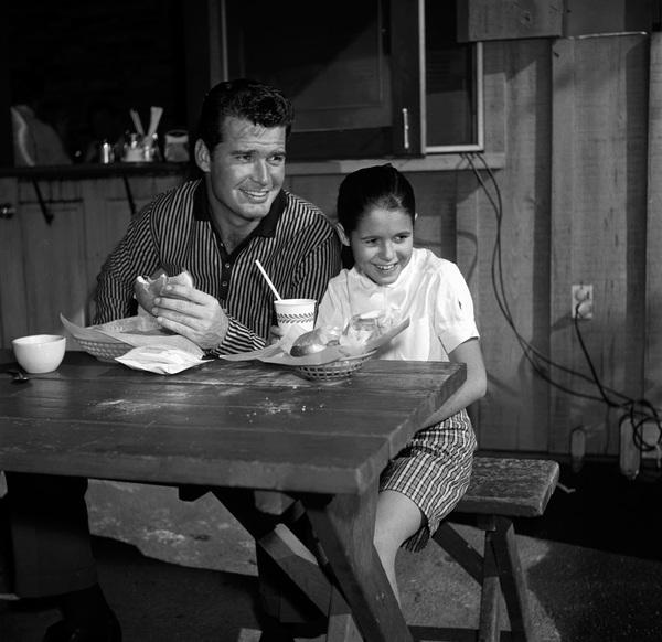 James Garner and step-daughter Kimberly circa 1958 © 1978 David Sutton - Image 0037_0801