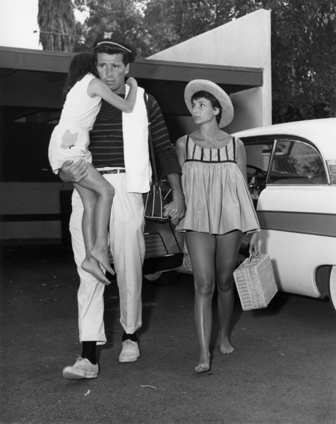James Garner with his wife, Lois Clarke, and their daughter Kimberly in Malibu1957Photo by Jack Woods** J.S.C. - Image 0037_0842