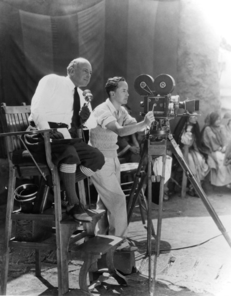 Cecil B. De Mille and J. Peverell Marley at De Mille Studio in Culver City California1928 - Image 0040_0151