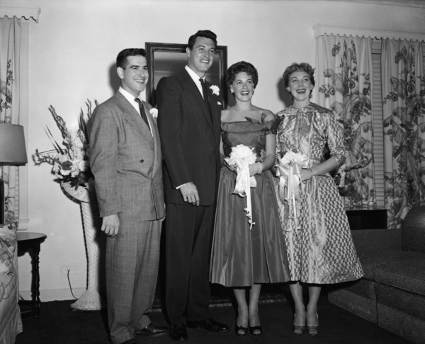 Rock Hudson and Phyllis Gates on their wedding day1955** I.V. - Image 0067_1065