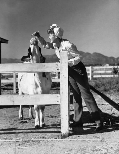 Lucille Ball on farm1942 - Image 0069_0887