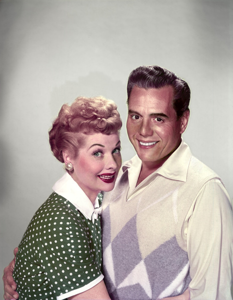 Lucille Ball and Desi Arnaz 1954 © 1978 Wallace Seawell - Image 0069_2038