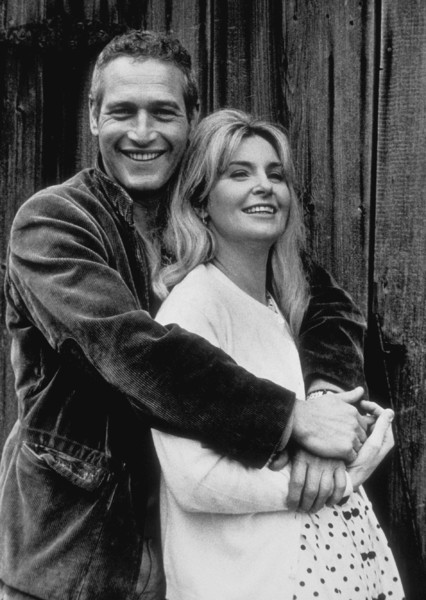 "Paul Newman with wife Joanne Woodwardoff the set of ""Winning,"" 1968. © 1978 David Sutton - Image 0070_2325"