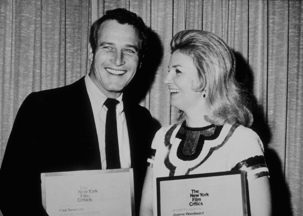 "Paul Newman and wife Joanne Woodwardreceive N.Y. Film Critics Awards for""Rachel, Rachel"" actress and director,1969. - Image 0070_2328"