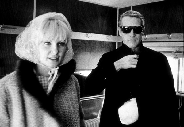 """Paul Newman with wife Joanne Woodwardon set of """"A Fine Madness,"""" 1966. © 1978 David Sutton - Image 0070_2332"""