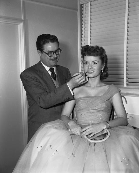 Debbie Reynolds with make-up man William Tuttlecirca 1950s** I.V. - Image 0071_1112