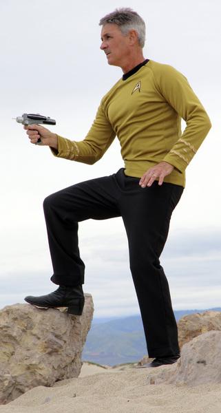 "Ron Avery in ""Star Trek"" uniform 2019© 2019 Ron Avery - Image 0090_1128"