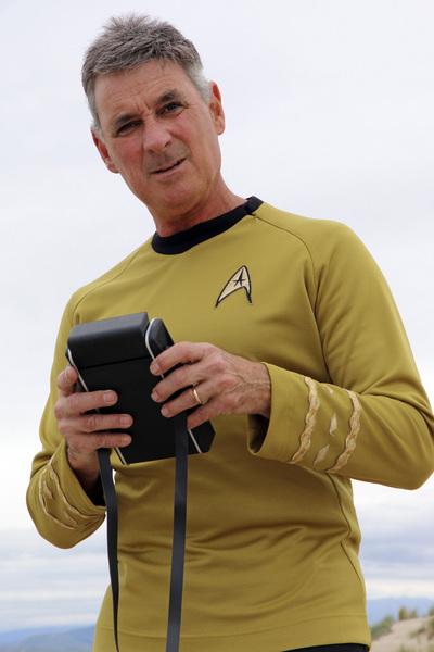 "Ron Avery in ""Star Trek"" uniform 2019© 2019 Ron Avery - Image 0090_1130"