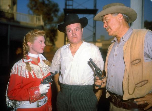 "Bob Hope, Ward Bond and Gail Davison the set of ""Alias Jesse James""1959 UA - Image 0173_0309"