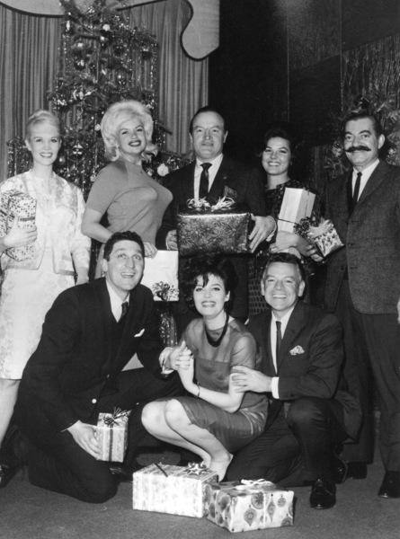 Bob Hope during the holidays with Jayne Mansfield, Jerry Colonna, and others, c. 1961.**I.V. - Image 0173_0554