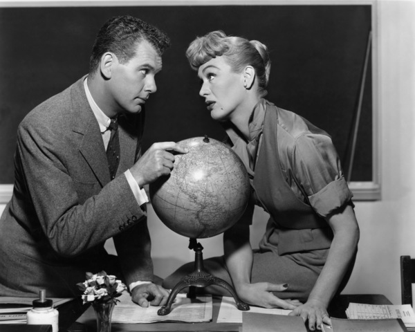 "Eve Arden and Robert Rockwell in ""Our Miss Brooks""1956 Warner BrothersPhoto by Bert Six - Image 0287_0116"